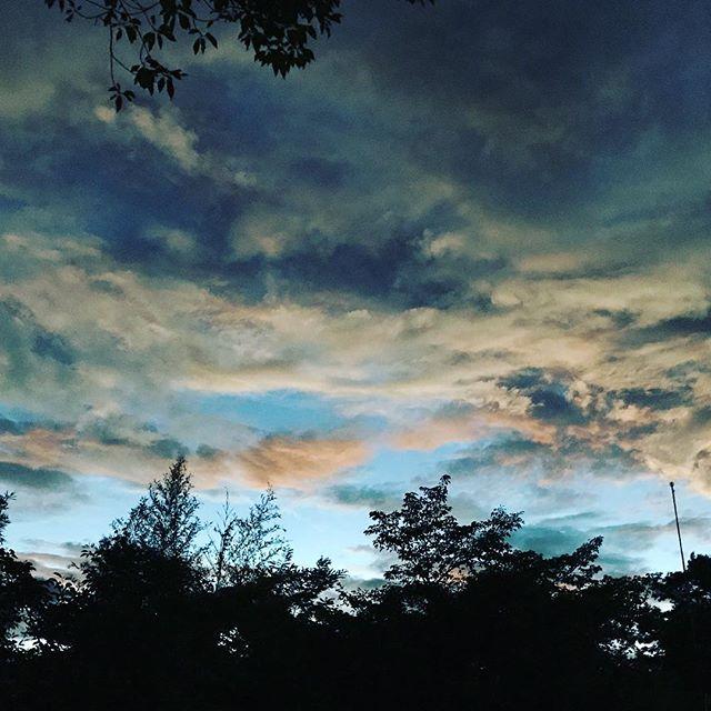 嵐の後の雲は表情が豊かです。先日の健康診断の結果は婦人科関係も含め再検査項目なしでした。健康に産んでくれた両親に感謝です。 (Instagram)