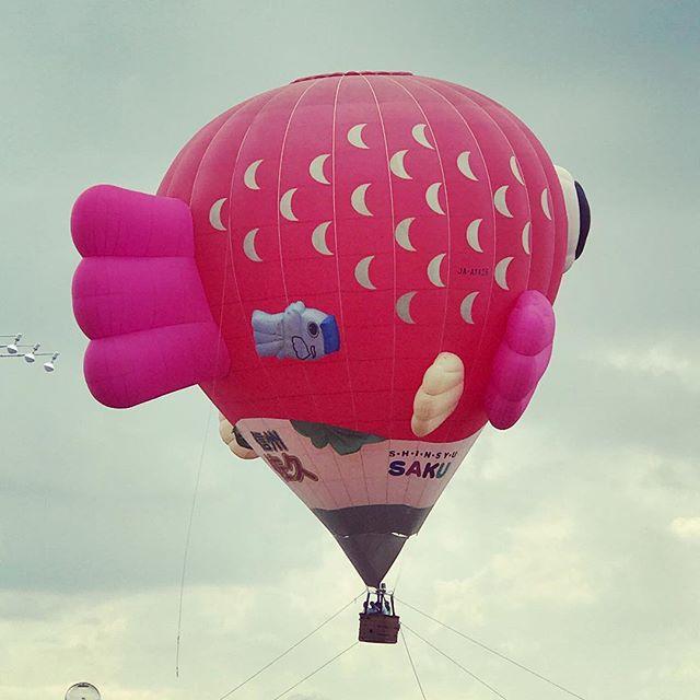 こちらが佐久市自慢の気球の後ろ姿でございます (Instagram)